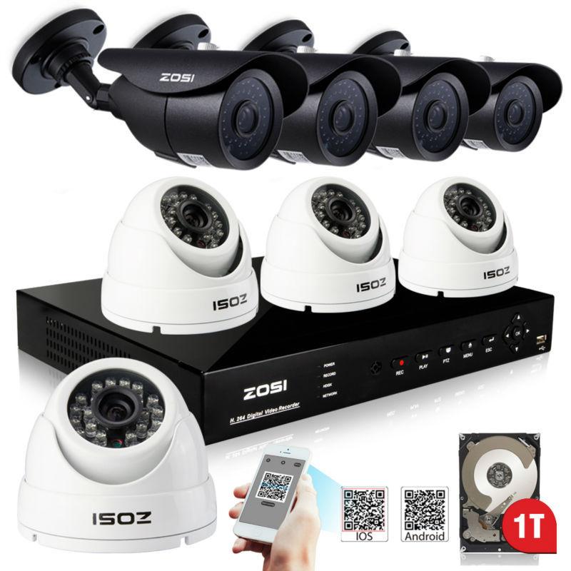 800TVL CCTV System 8CH HDMI DVR with 8PCS CMOS IR Camera with IR Cut Filter Security System 8CH DVR Kit 1TB HDD(China (Mainland))