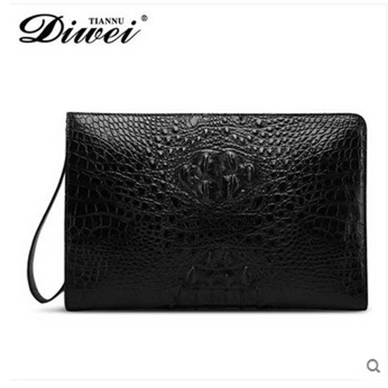 diwei 2017 new hot free shipping crocodile leather carrying large capacity coach men purses male traveler bag men bag clutches(China (Mainland))