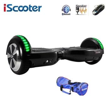 iScooter Hoverboard 6.5 inch Electric Skateboard Self Balancing Scooter two Wheel with Led Bluetooth Speaker hover board