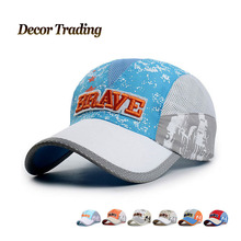 2015 New Summer Baseball Caps for Children Snapback Caps Mesh Breathable Casual Outdoor Sport Adjustable Hats For 8-16 Years(China (Mainland))