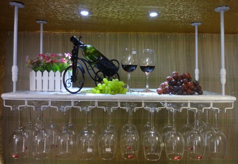 70*22CM Fashion Bar Red Wine Goblet Glass Hanger Holder Hanging Rack Shelf wall wine rack cup holder()