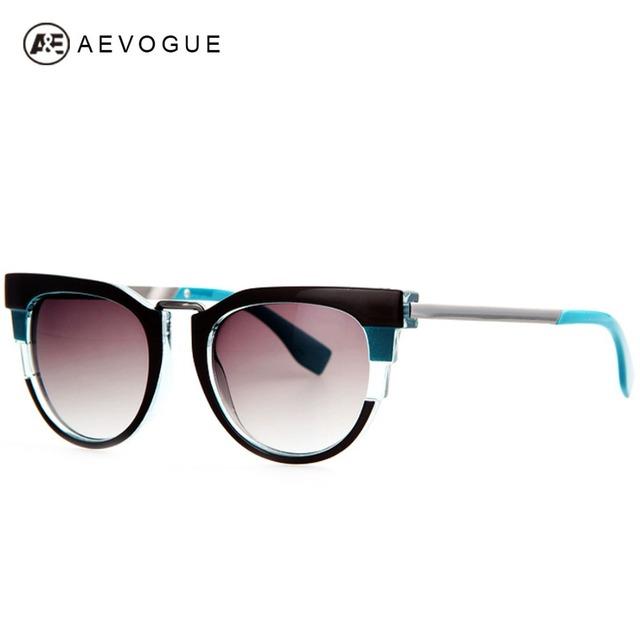 Очки aEVOGUE последним металл храм женщин высокое качество старинные многоцветные оптические солнцезащитные очки óculos UV400 AE0196