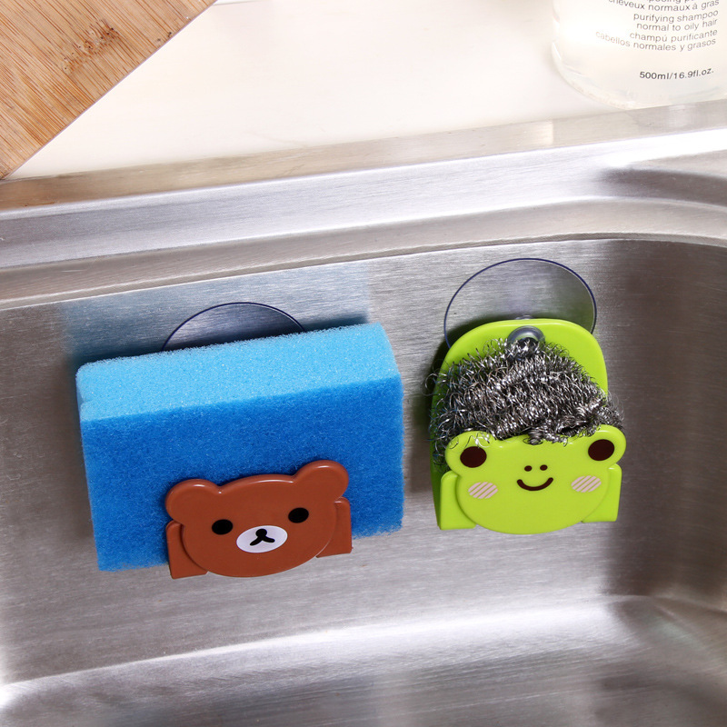 Lovely cartoon shaped kitchen sponge storage rack wall mounted type sink shelf scouring pad - Seven different uses of the kitchen sponge ...