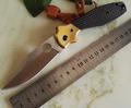 High Quality C190 Ed Schempp Bowie Pocket Knife Plain Edge Carbon Fiber or G10 handle C190CFP