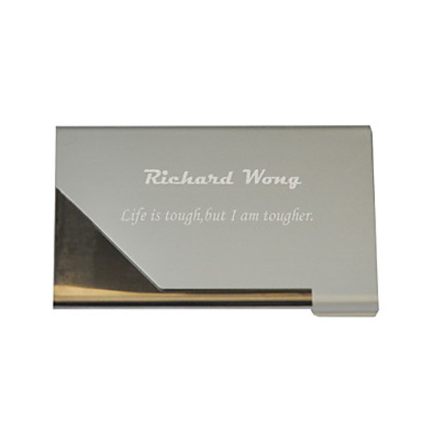 EastSun Personalized Siler Metal Engraved Business Card Holder(China (Mainland))