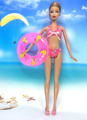 NK Doll Swimwear Seaside Bathing Garments Swimsuit+Slippers+ Swimming Buoy Lifebelt Ring For Barbie Doll Greatest Lady' Reward 030B