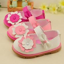 2016 Baby Girls Flowers Leather Shoes Infant Newborn Toddler Shoes Spring Autumn Soft Bottom Comfortable Kids Princess Shoes(China (Mainland))