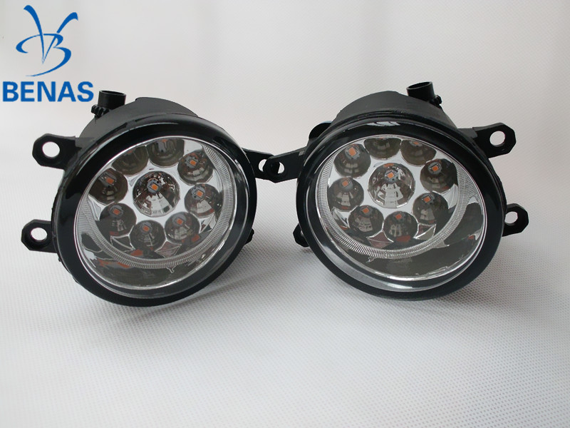 For TOYOTA PRIUS ZVW3 2008-2010-2015 Car styling LED fog lightsHigh Brightness front bumper fog light Gray Covers OE 812100D040