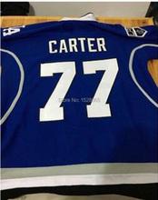 77 Jeff Carter Los Angeles Dodgers LA King Blue Limited Hockey Jersey,Mens 100% Embroidery Dodgers Hockey Jerseys XXS - 6XL(China (Mainland))