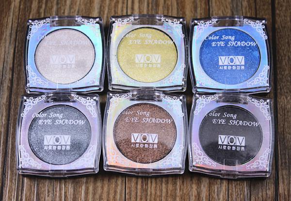 6pcs/lot,Color Song Wet Powder Eye Shadow,Waterproof Make up Eyeshadow Palette ,Free shipping by Chinapost(China (Mainland))