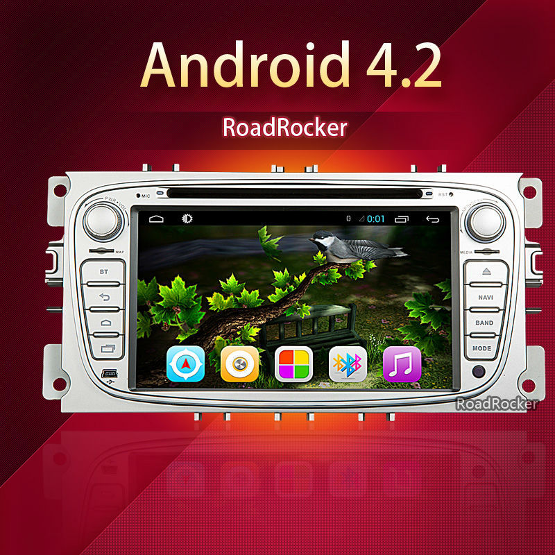 2 din double din android car dvd gps player dvd for Ford Mondeo S-Max Cmax Focus GPS car dvd radio stereo navigation player(China (Mainland))