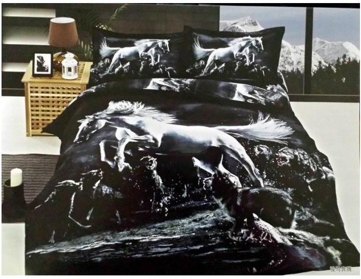 Online kopen Wholesale horse comforter set bedding uit China horse comforter set bedding