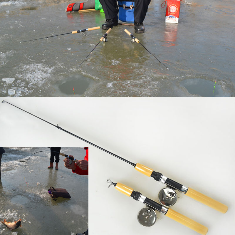 2016 Hot Sale Portable Shrimp Ice Fishing Rod Pole Mini Rods Fishing Tackle Canne A Peche(China (Mainland))