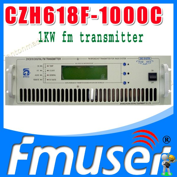 CZH618F-1000C 1KW fm radio broadcast transmitter Small Size PLL stereo transmitter fm radio staion equipment 87-108MHz(China (Mainland))