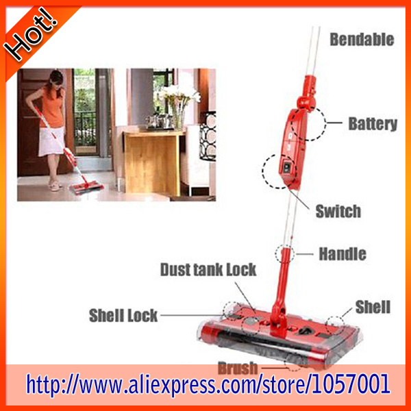 G6 Electric Floor Sweeper 360 Degree Rotary Cleaning Cordless Rechargeable 24pcs/Lot Free Shipping(China (Mainland))