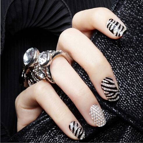 713 Send Randomly 3sheets/lot 3D Solid Nail Art Nail Sticker Wrap Decals Manicure DIY Nail Art Decoration Gem Sticker Tips QT435(China (Mainland))