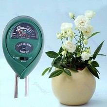 Free Shipping 3 in1 Plant Flowers Soil PH Tester Moisture Light Meter Hydroponics Analyzer