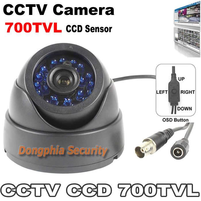 700TVL 960H Super HAD II CCD OSD menu 2D-NR High Color Reproduction 24h/7days work 24pcs IR led lights security camere(China (Mainland))
