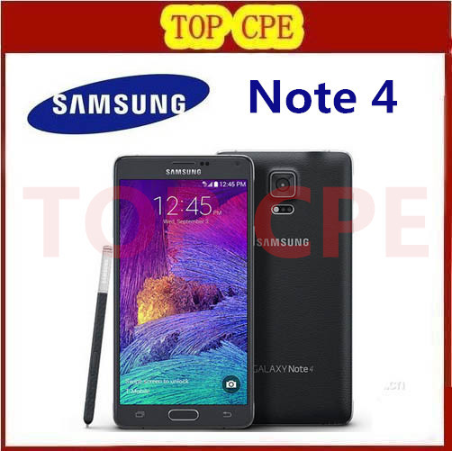 100% Original Unlocked Samsung Galaxy Note 4 N910F Cell phone 16MP Camera 3GB RAM 32GB ROM 3G/4G 5.7'' Touch Refurbished Phone(China (Mainland))