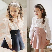 Buy baby girl clothes fashion lace children girls clothing sets shirt strap dress cute bodysuit cotton 2-7 yrs 2016 autumn new set for $26.00 in AliExpress store