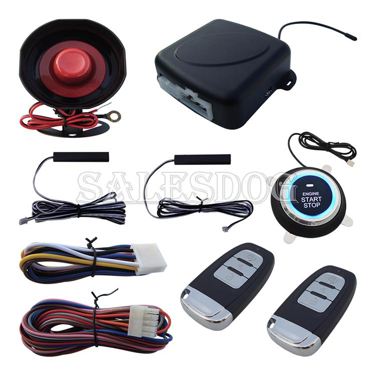 New PKE Car Alarm System W Remote Control Start Engine & Push Button Start Engine Stock In USA & Australia,auto lock or unlock(China (Mainland))