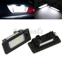 2Pcs Error Free 24-LED License Plate Light For BMW E90 M3 E92 E70 E39 F30 E60 E93 High Quality(China (Mainland))