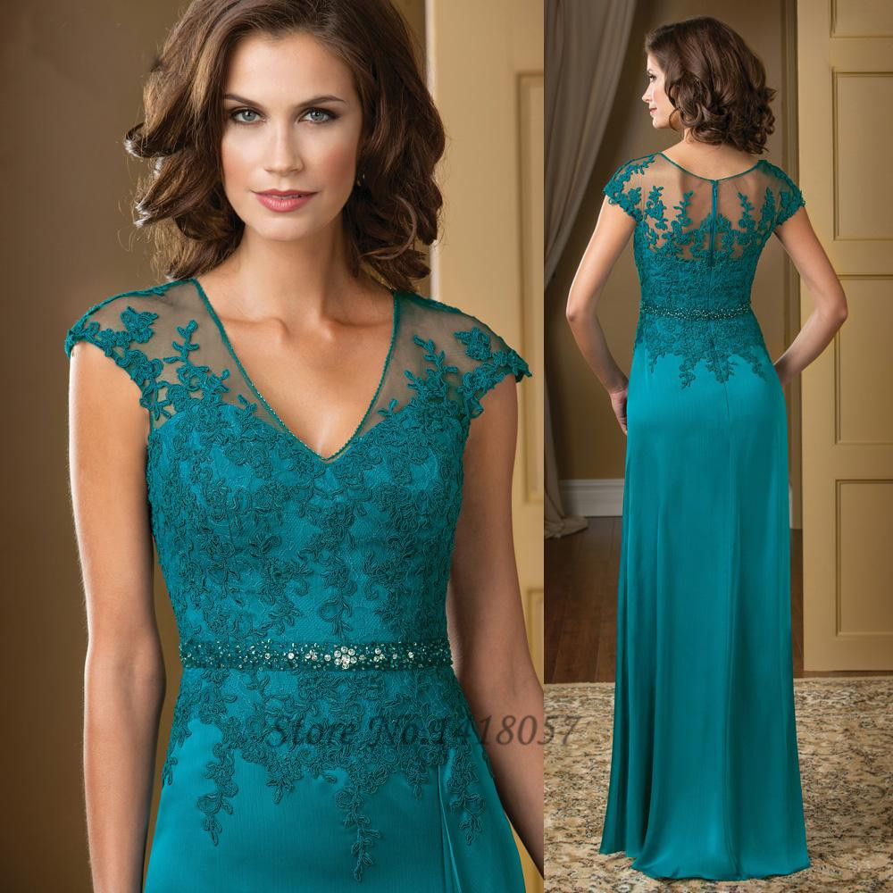Buy 2015 Turquoise Mother Of The Bride Dresses Lace Chiffon