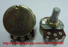 2pcs//Electric guitar game potentiometer single linked B25K 15R RV24AF-10(China (Mainland))