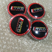 4pcs/lot 60mm Toyota TRD car Wheel Center Hub Cap Badge emblem covers auto accessories  Free shipping(China (Mainland))