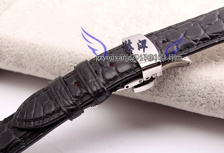 Ремешок из кожи крокодила бабочки ремень адаптер 18   20 мм коричневый черный мужчин и женщин смотреть