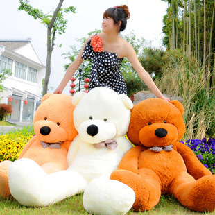 1pcs/100cm Free-shipping Giant Teddy Bear Plush Toy Giant Stuffed Cute Toys Animals Kid Gift High Quality Dolls With 5 Colors(China (Mainland))