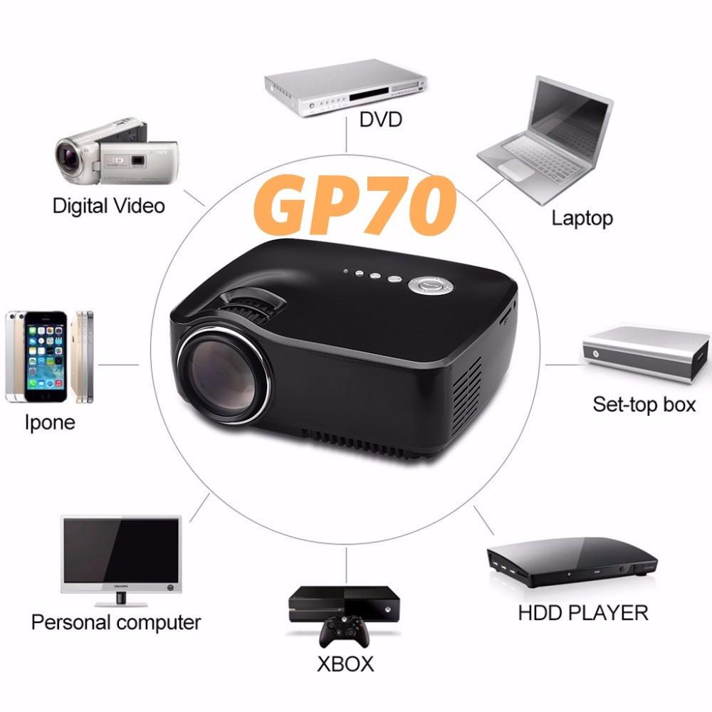 Crenova gp70 lcd portable projector av in sd usb vga hdmi for Mini usb projector review