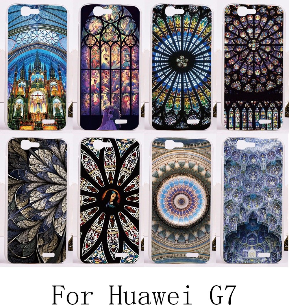 1 Piece Free Shipping Telephone Skin For Huawei Ascend G7 C199Print Beautiful Feather Pendant Hot Sell Phone Cases(China (Mainland))