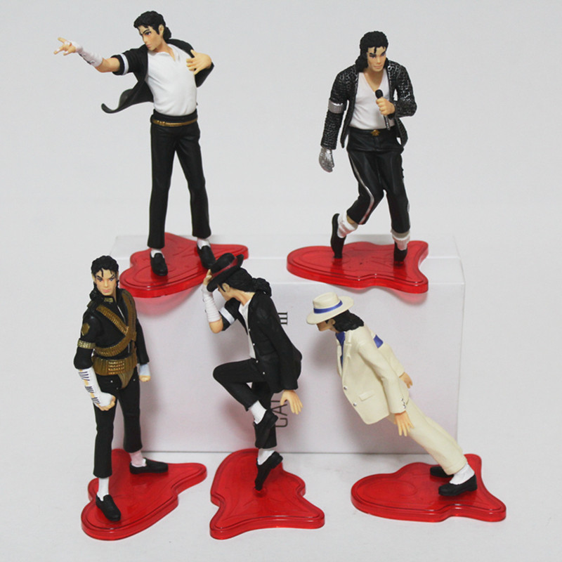 5pcs/lot PVC Michael Jackson Figure Toys Famous Singer Michael Action Figure Doll For Collection / Gift<br><br>Aliexpress