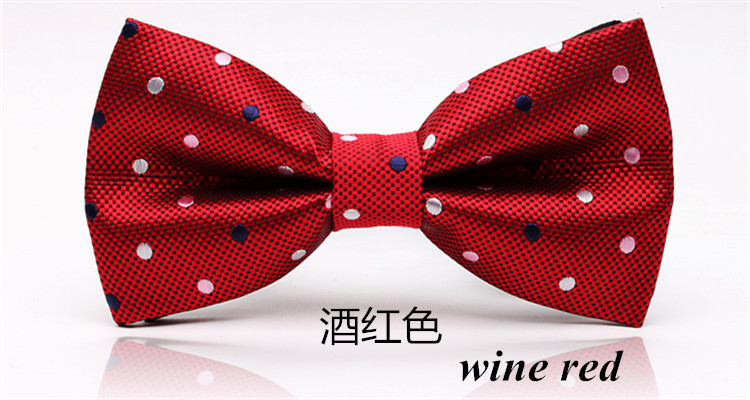 Free shipping 2015 New Style Novelty Fashion Dots Bow Tie For Men Groom Gravata Cravat Bowtie Party Wedding Red Butterfly Brand(China (Mainland))