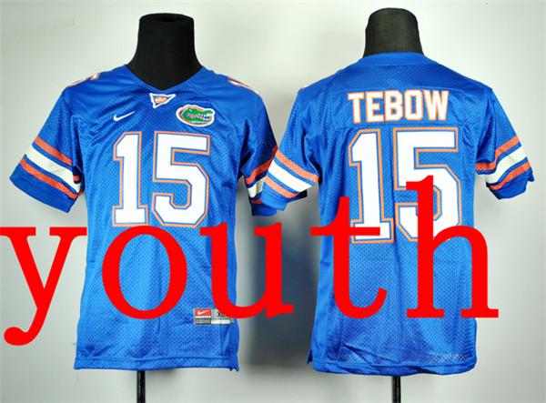 Nike Youth Nike Florida Gators Tim Tebow 15 Royal Blue College Football Jersey(China (Mainland))