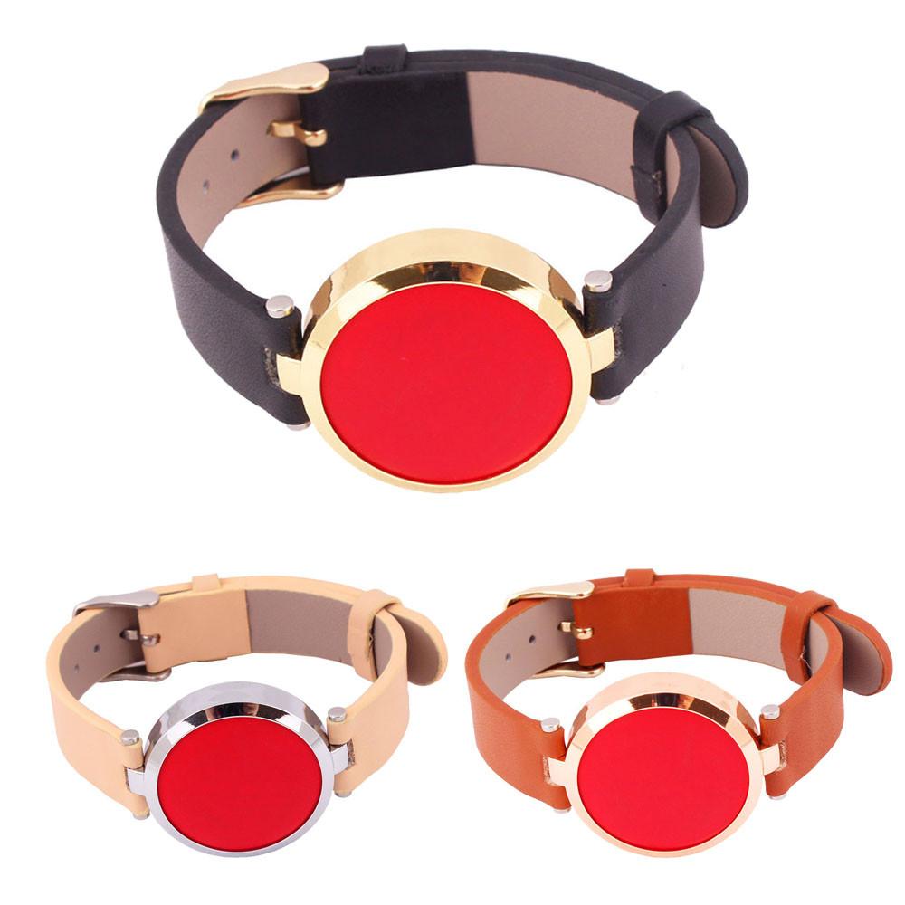 Mance 2016 New Luxury Fashion Design Leather Watch Band Strap For Misfit Flash Bracelet Smart WristBand(China (Mainland))