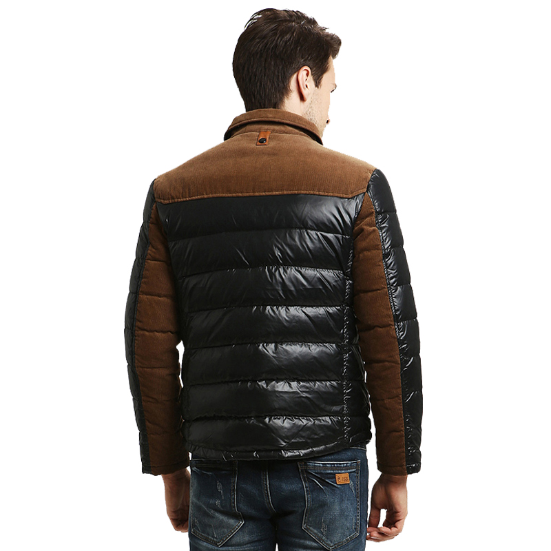 winter jacket men lapel pure color fashion coat men s winter coats slim thin short down