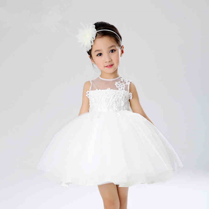 2016 New Baby Toddler Girl 0-1.5 Year Birthday Party First Communion Princess Dresses Baby Girl Baptism Pageant Ball Gowns Dress(China (Mainland))