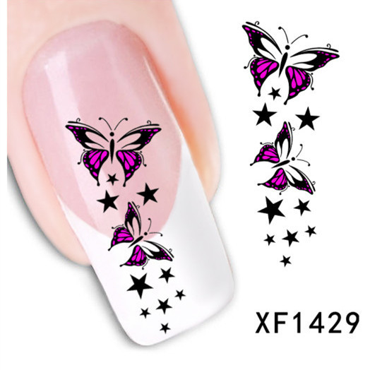 1sheet Red Bow Vine French Tips Water Transfer Nail Stickers Nail Art Decals Patch DIY Manicure Beauty Nail Tools LAXF1429(China (Mainland))