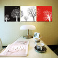 3 Piece canvas wall art tree black red Christmas Gift canvas prints abstract modern art painting