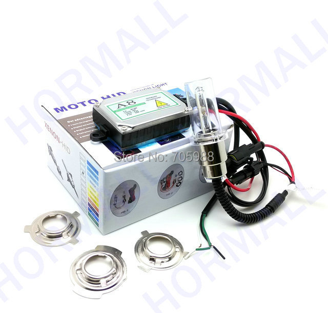Motorcycle Headlamp H6 Hid Xenon Lamp 35w Hid Conversion Kit moto hid high and low beam Hi/Lo hid lights high low lights HID kit(China (Mainland))