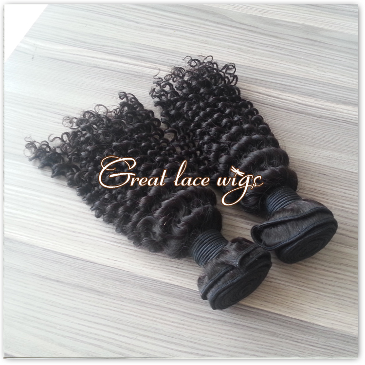 Rosa hair products brazilian virgin Kinky Curly Hair 1pc Brazilian Hair bundles Kinky Curly Brazillian Hair Jet Black #1