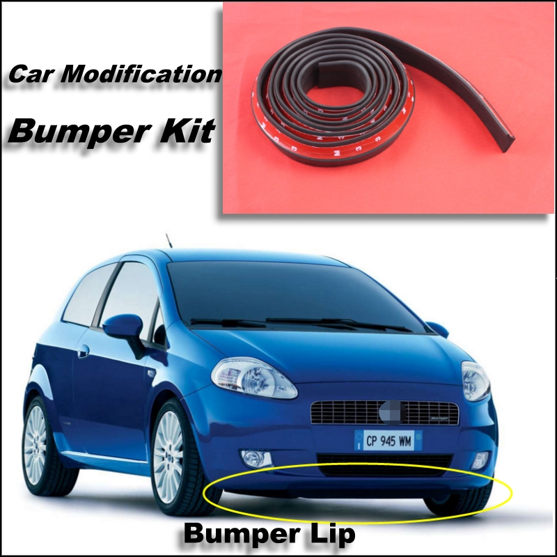 Bumper Lip For Fiat Punto Grande Evo /Zastava Front Spoiler Skirt / Bumper Kit / Deflector Lips Car Scratch Proof Adhesive Strip<br><br>Aliexpress