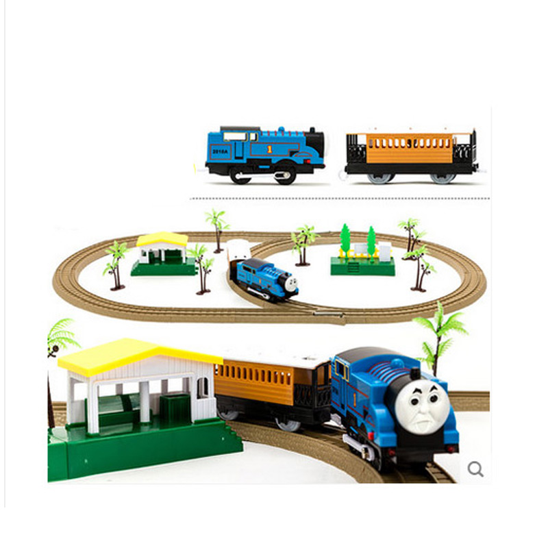 Hot Selling Cheap Thomas and Friends Electric Rail Car Toy Track Diecast for Kids Railway Trains Children Best Christmas Gift(China (Mainland))