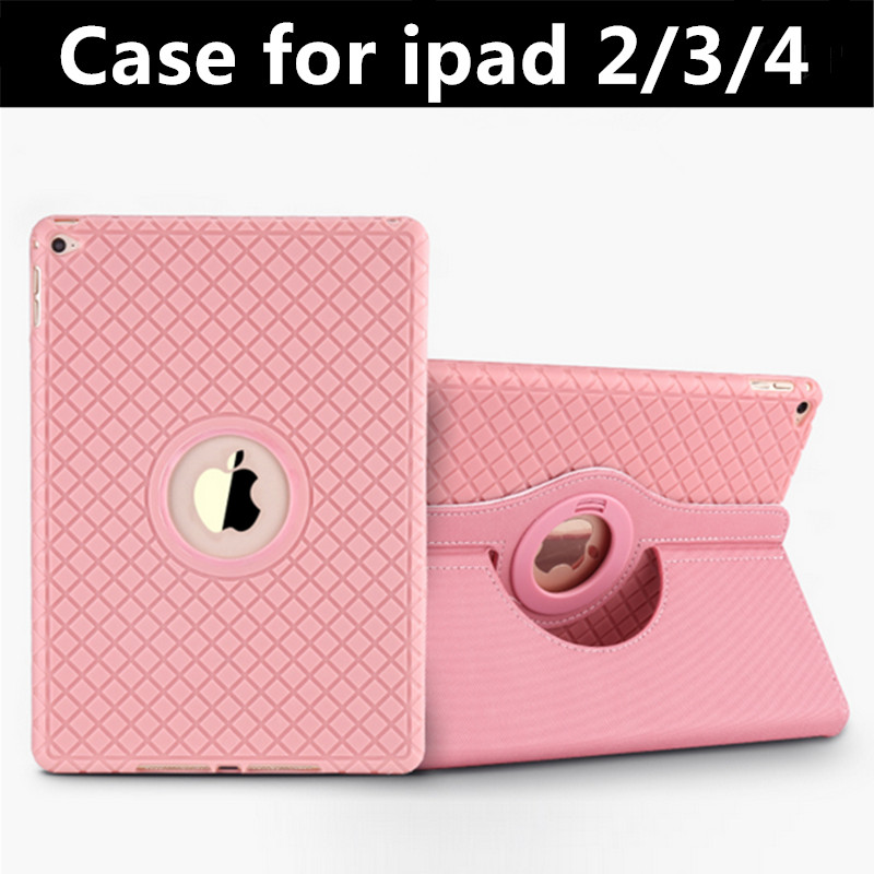 360 Rotating Case for iPad 2 4 Sleep Awake TPU Case Cover for iPad 3 with Stand Function Leather Case Card Slot Photoframe