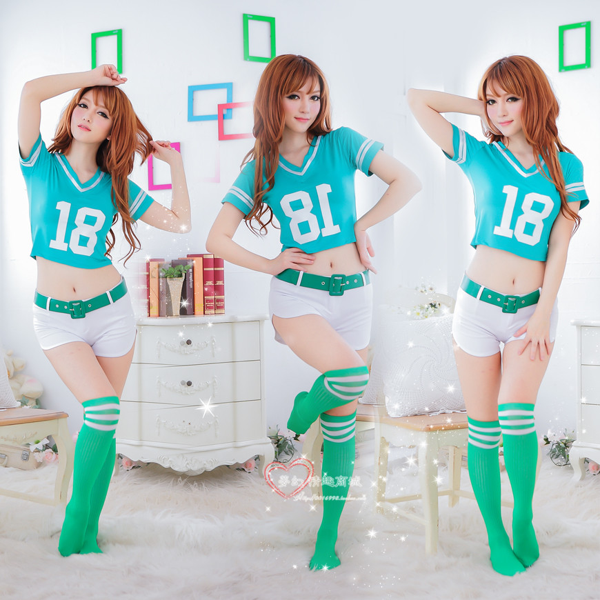 Sexy slim football belle costume game uniforms the temptation to set(China (Mainland))