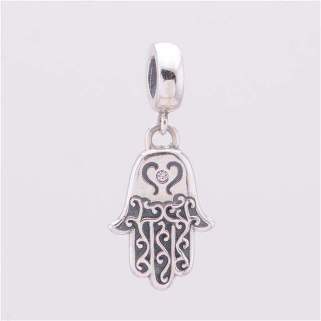925 серебряные ювелирные изделия бусины будда ручной подвески подходит европейский марка браслет и змея цепи DIY мода ювелирных изделий