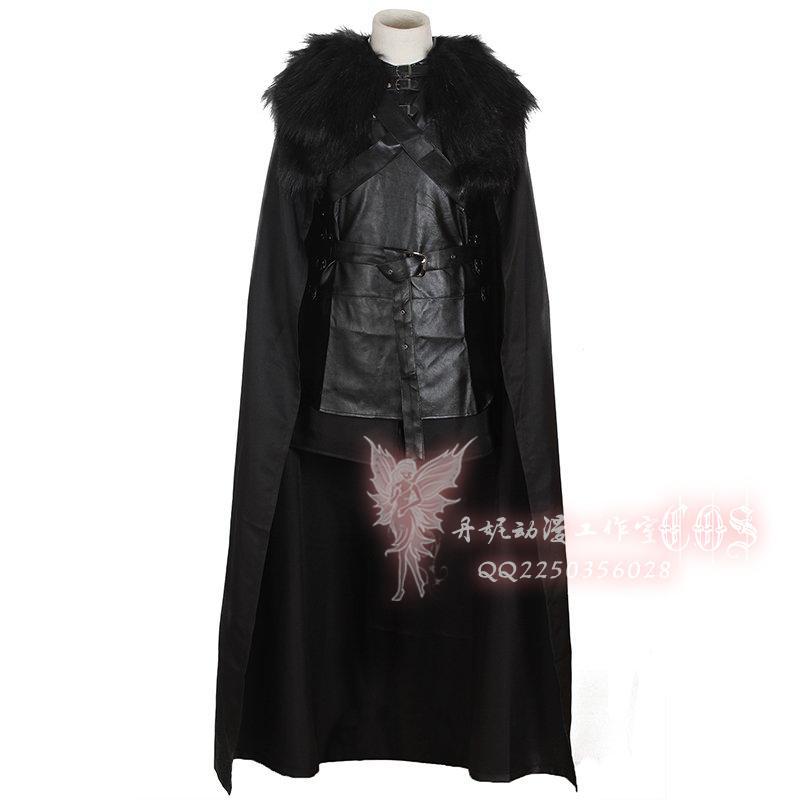 Game Of Thrones Jon Snow Cosplay Costume Men  Cloak Costume Halloween Costume for Men plus size xxs-xxxl