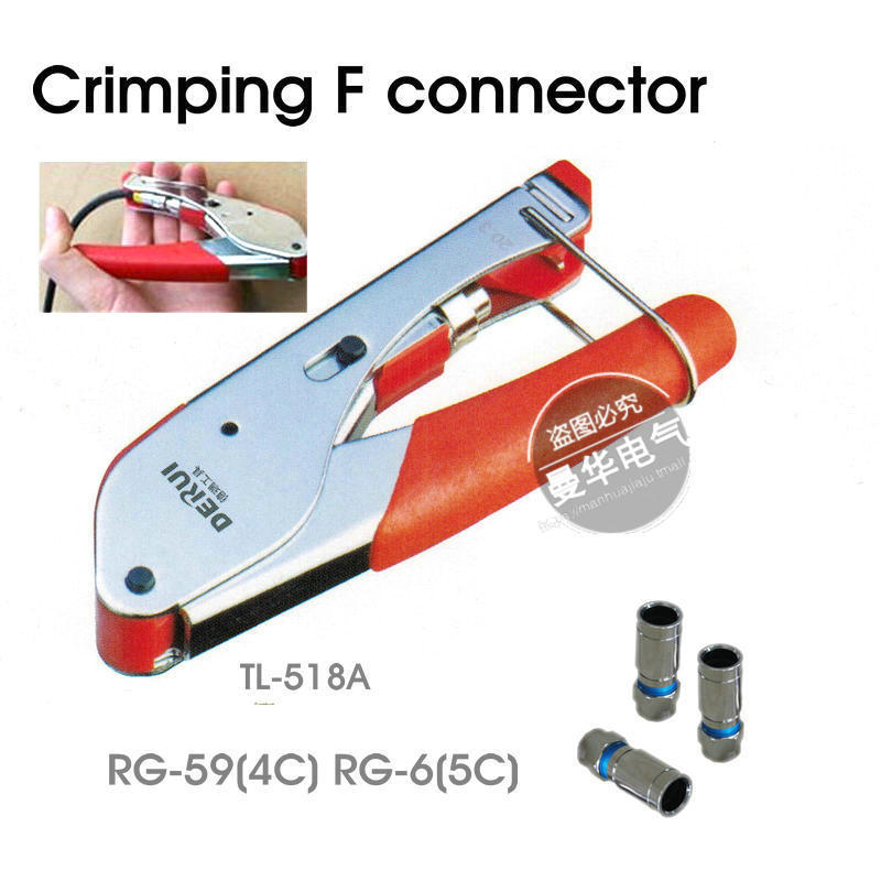 Freeshipping crimping F connector Crimper for Coaxial RG6 RG59 F BNC RCA Coax Cable(China (Mainland))